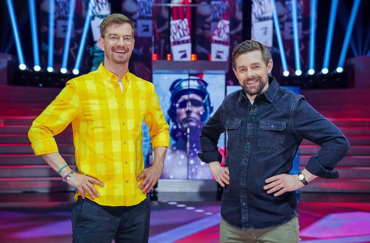 Die Entertainer Joko Winterscheidt (links) und Klaas Heufer-Umlauf Foto: dpa/Stefan Gregorowius