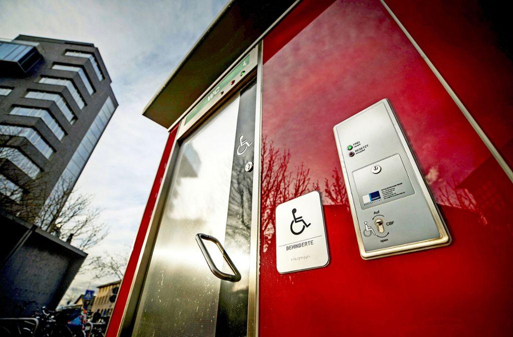 """Auch die Planungen im Zuge der Gartenschau, eine  Toilette """"für alle"""" einzurichten, wird von Behindertenverbänden kritisch gesehen. Foto: Gottfried Stoppel/Gottfried Stoppel"""