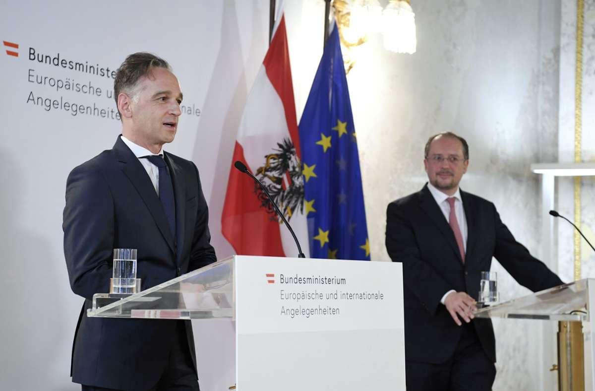Am Rande einer Konferenz in Wien sprach Außenminister Heiko Maas mit der Presse. Foto: AFP/ROLAND SCHLAGER