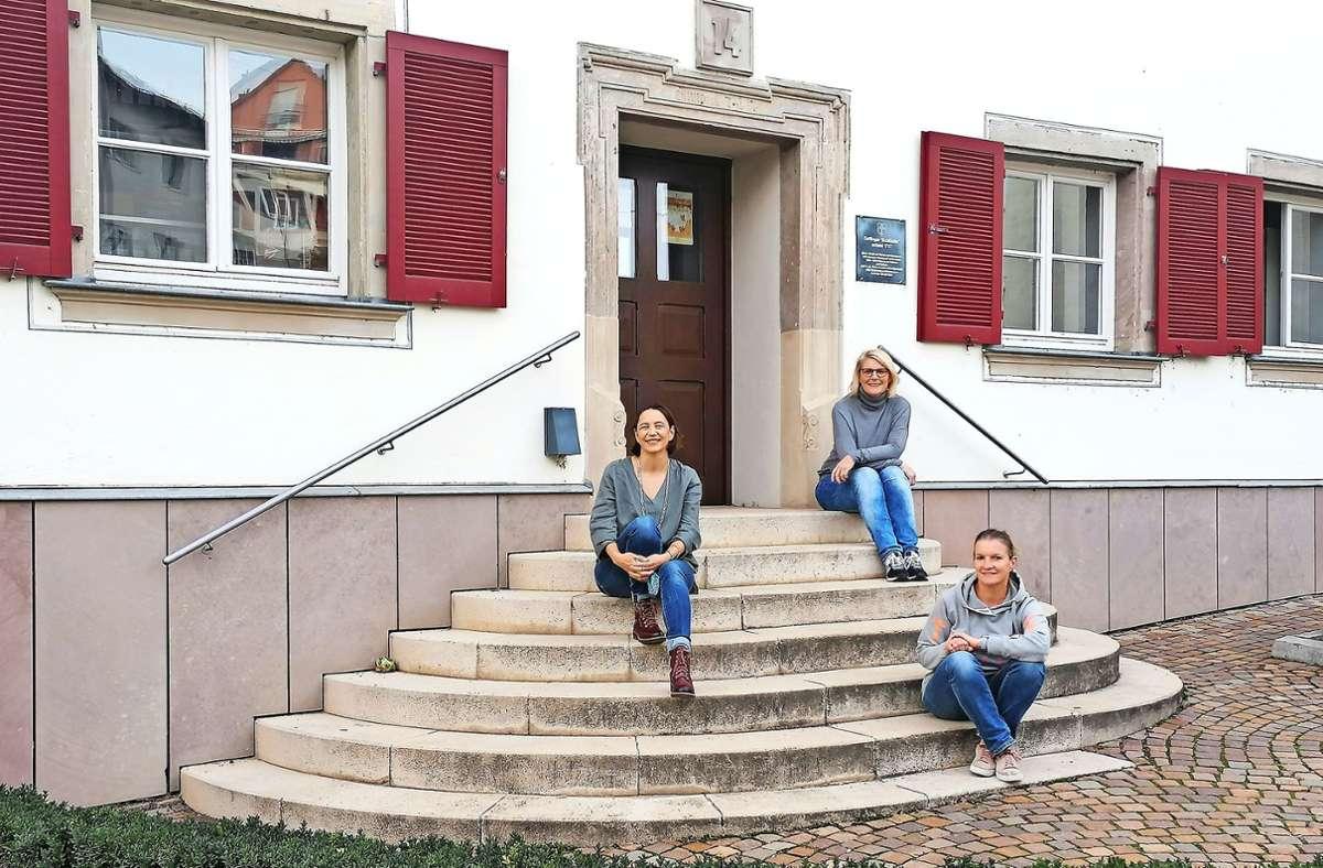 Iris Käppeler, Sabine Bähr und Katrin Schwenk (v.li.) wollen loslegen. Foto: Simone Käser Foto: