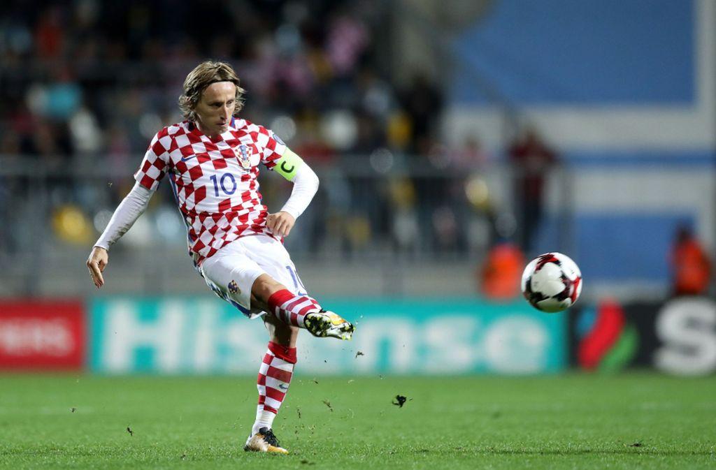 Luka Modric will mit seinen Kroaten mindestens ins Achtelfinale. Foto: AFP