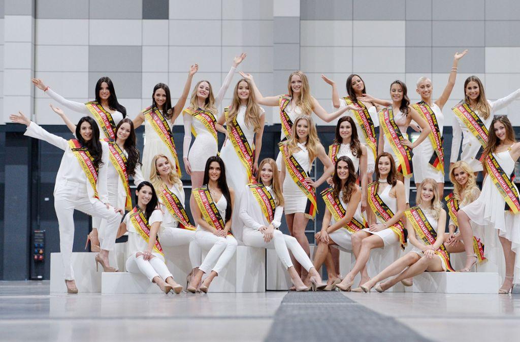 22 bildschöne Frauen treten im Miss-Germany-Finale gegeneinander an. Foto: picture alliance