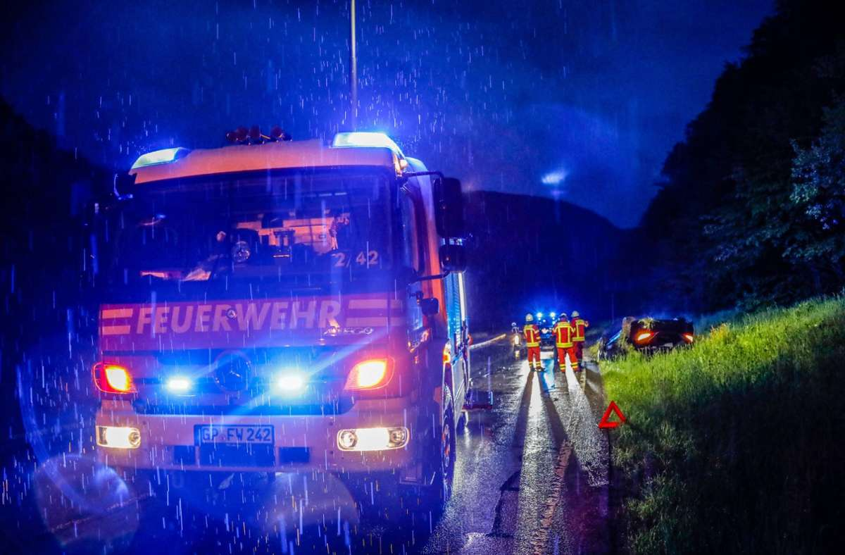 Verletzt wurde niemand, der Mercedes  musste abgeschleppt werden. Foto: 7aktuell.de/Christina Zambito