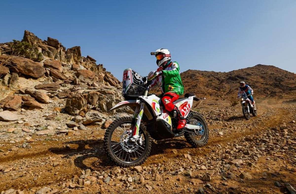 Pierre Cherpin bei der Dakar-Rallye Foto: AFP