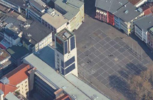 Die Solar-Pilotanlage am Rathausturm wird untersucht