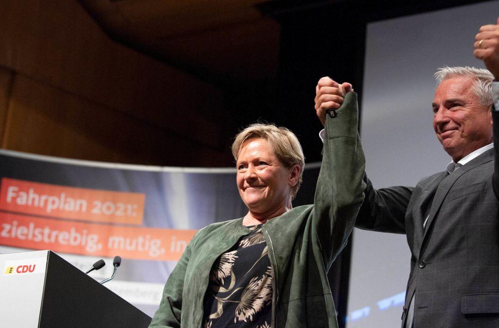 Ausgerechnet in seiner Heimatstadt Heilbronn musste CDU-Landeschef Thomas Strobl seiner Konkurrentin Susanne Eisenmann die Spitzenkandidatur für die Landtagswahl im März 2021 überlassen. Das war im Sommer. Da zeigten die beiden noch Siegeszuversicht. Foto: dpa/Thomas Kienzle