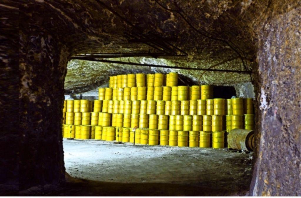 Wohin mit den strahlenden Resten? Wie hier im Endlager Morsleben müssen große Mengen Müll  aus Forschungseinrichtungen und  Kraftwerken gelagert werden. Foto: dpa