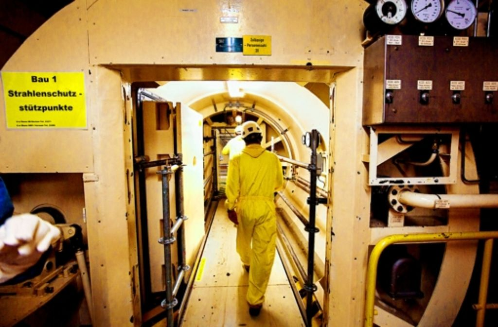 Die Personenschleuse ins Reaktorgebäude ist mittlerweile offen. Foto: Achim Zweygarth