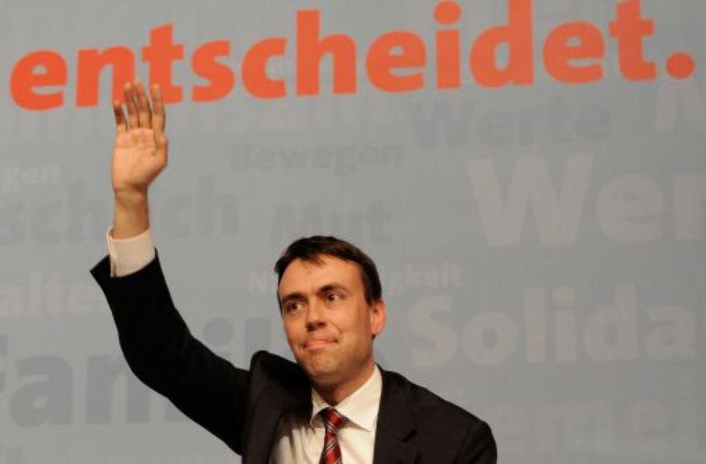 Siegerpose, aber mittelmäßiges Ergebnis: Nils Schmid. Foto: dapd