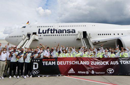Team Deutschland in Frankfurt empfangen