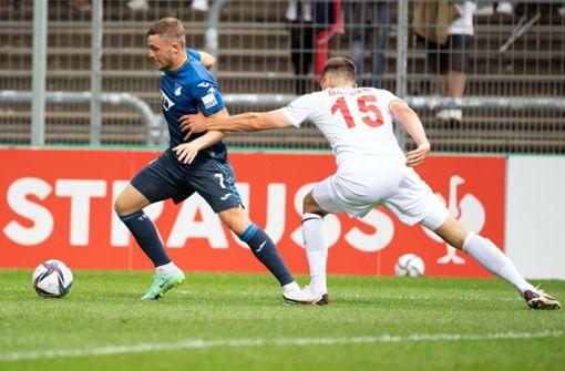TSG Hoffenheim  müht sich in zweite Runde