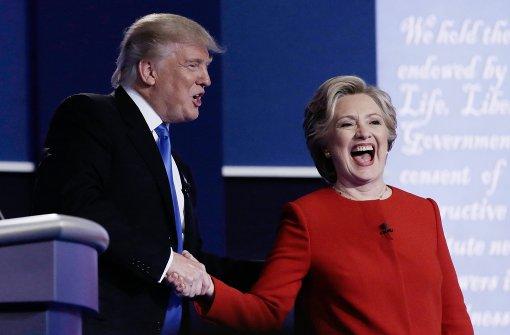 Trump ziellos, Clinton gelassen