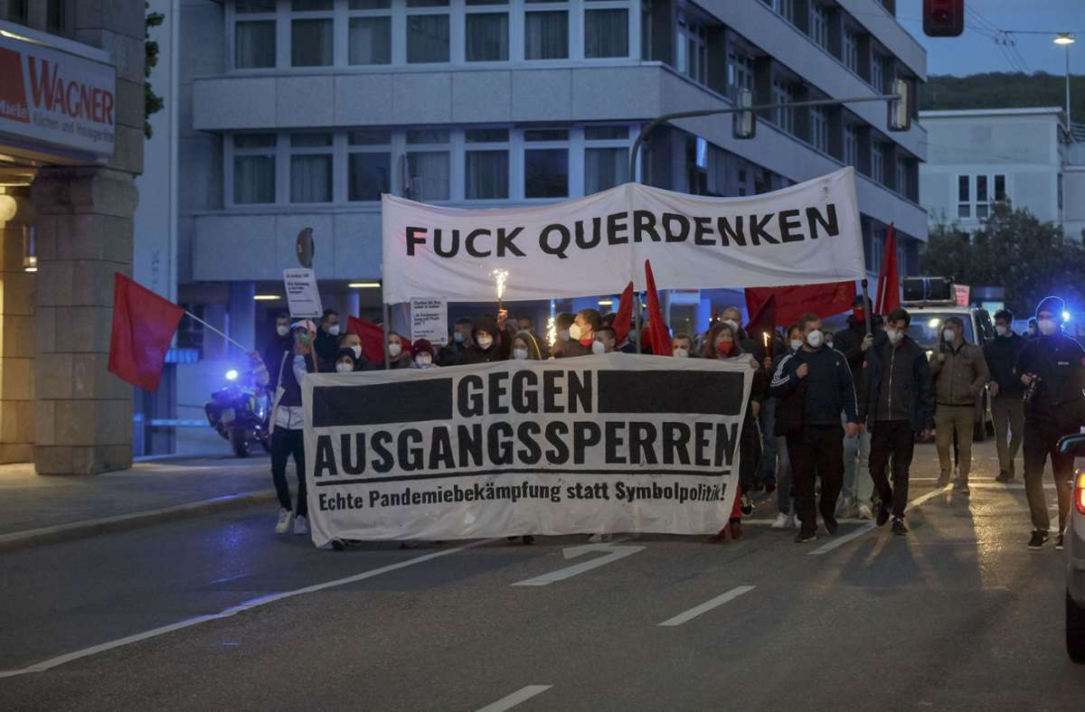 Die Protestler zogen vom Marienplatz zum Feuersee. Foto: Lichtgut/Julian Rettig