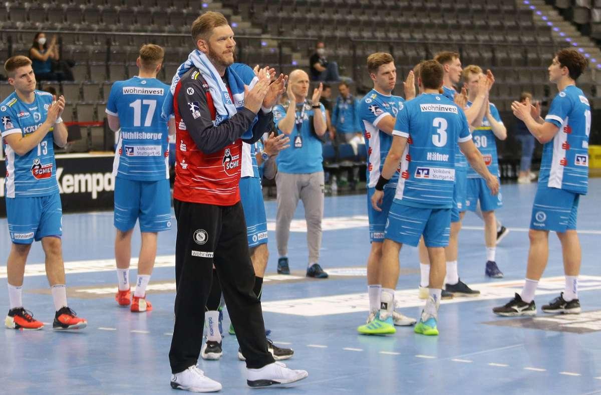 Eine achtbare Leistung des TVB Stuttgart reicht gegen Flensburg nicht zu Punkten. Foto: Baumann
