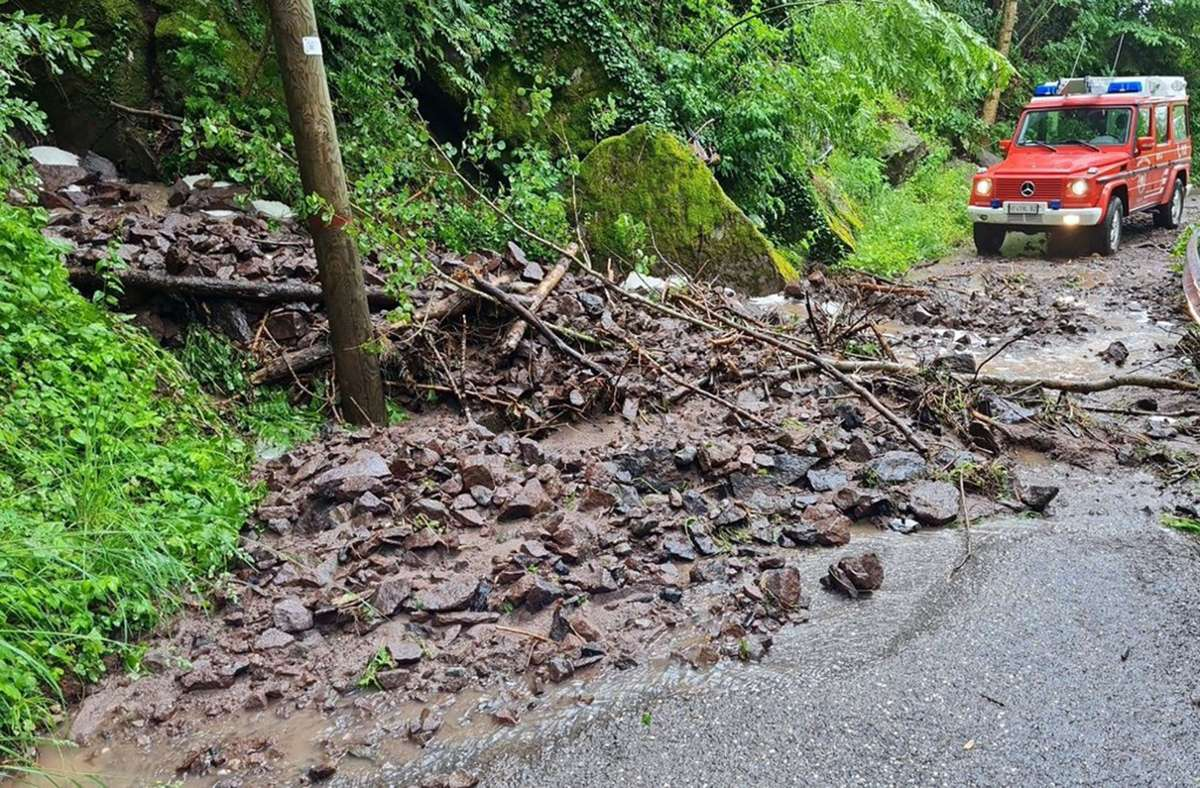 Überschwemmungen und Erdrutsche in Südtirol Foto: LFV Südtirol/dpa