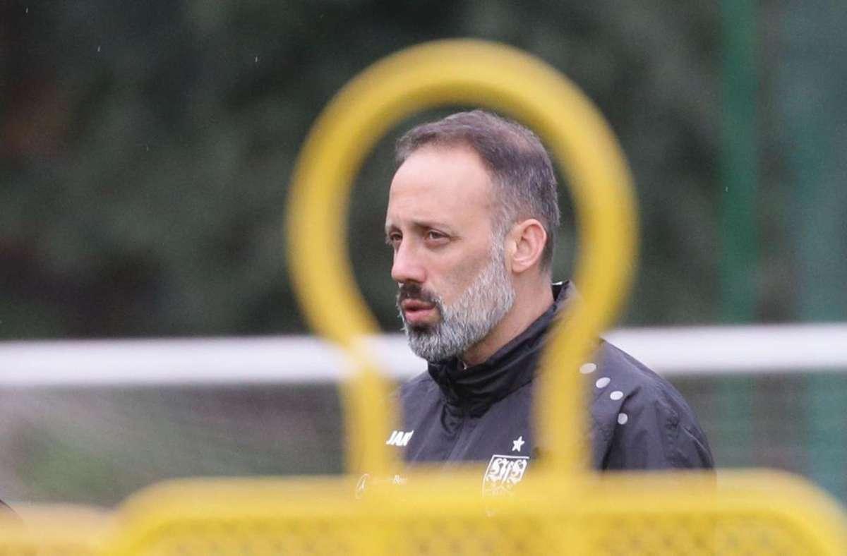 Pellegrino Matarazzo hat den Durchblick. Der VfB-Trainer hat die gerade abgelaufene Saison analysiert, um seine Schlüsse für die kommende Spielzeit zu ziehen. Foto: Baumann