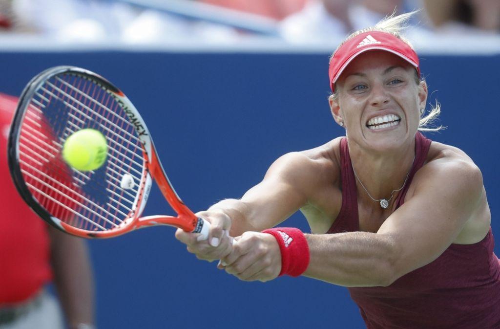 WTA-Turnier in Cincinnati. Angelique Kerber bleibt im neuen Ranking die Nummer zwei hinter Serena Williams. Foto: AP