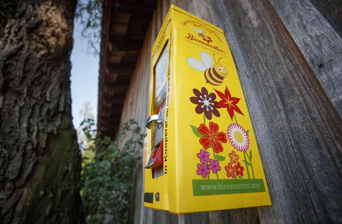 Bienenautomat an der Hönle-Ranch in Fellbach Foto: /Gottfried Stoppel