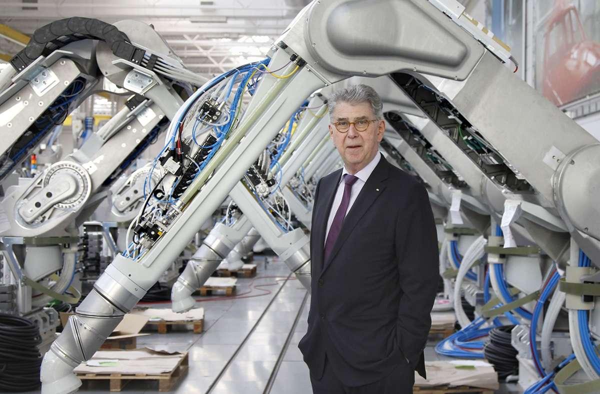 """Der  Unternehmer und Großaktionär  Heinz Dürr ist in der """"letzten Reihe"""" angekommen und schreibt darüber. Foto: factum/Simon Granville"""