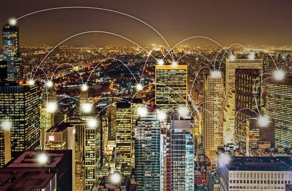 Die vernetzte Stadt der Zukunft. Foto: 140421393