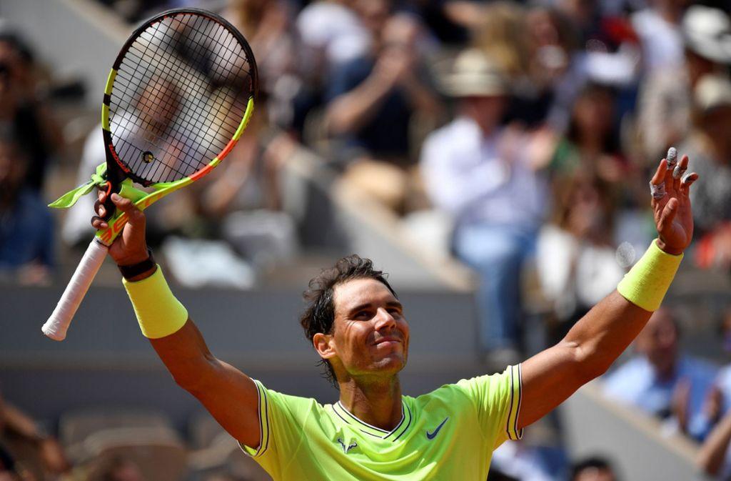 Ein jubelnder Rafael Nadal: Dieses Bild hat in Paris wahrlich keinen Seltenheitswert. Foto: Getty Images
