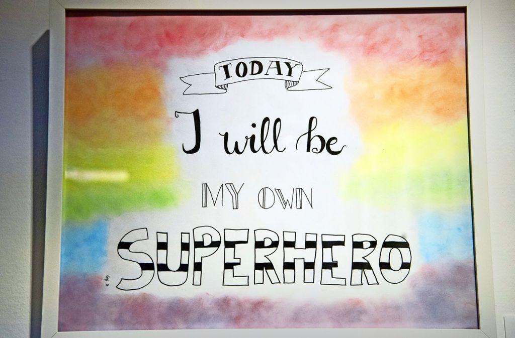 """Die Arbeit der 13-Jährigen Gizen:  """"I will be my own Superhero Foto: Lichtgut/Oliver Willikonsky"""