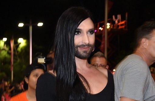 Ganz in Schwarz: Conchita Wurst