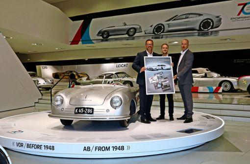 Porsche-Sondermarken: Der Prototyp  als Porto