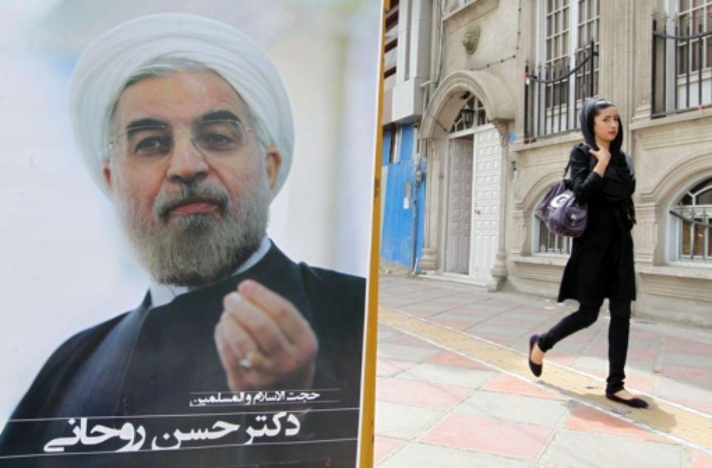 Vom neuen Präsidenten Rohani erhoffen sich die Iraner mehr Freiheiten. Foto: AFP