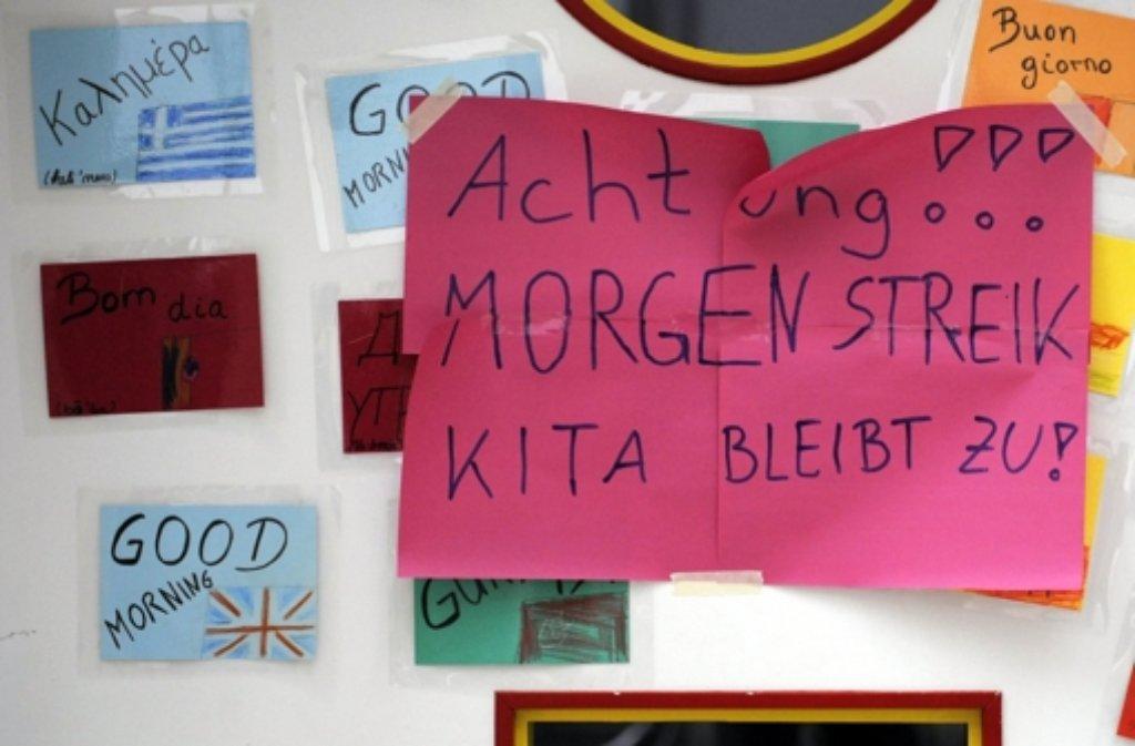 Auch in Stuttgart bleiben diese Woche die städtischen Kitas geschlossen. Foto: dpa