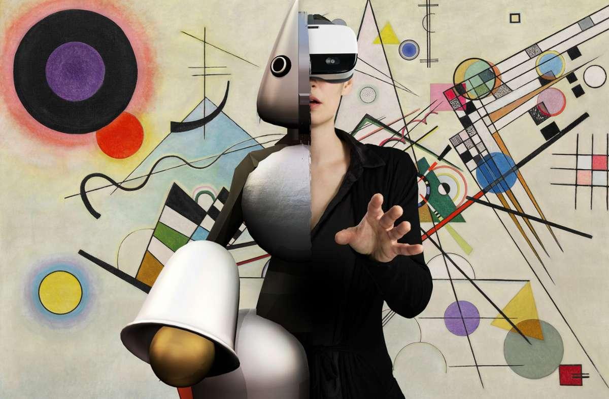 Mit Hilfe einer VR-Brille kann  man im Kunstmuseum durch Gemälde laufen. Foto: Artiality
