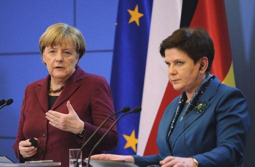 Merkel pocht auf Rechtsstaatlichkeit