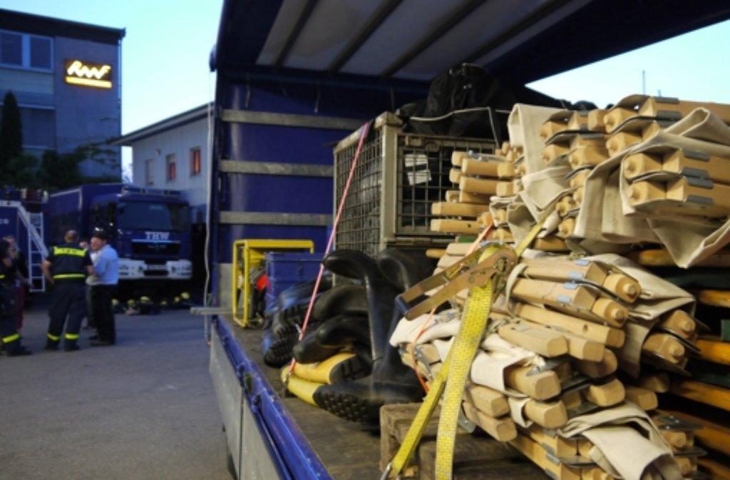 Das Leonberger THW auf dem Weg zum Hochwassereinsatz in Magdeburg. Foto: privat