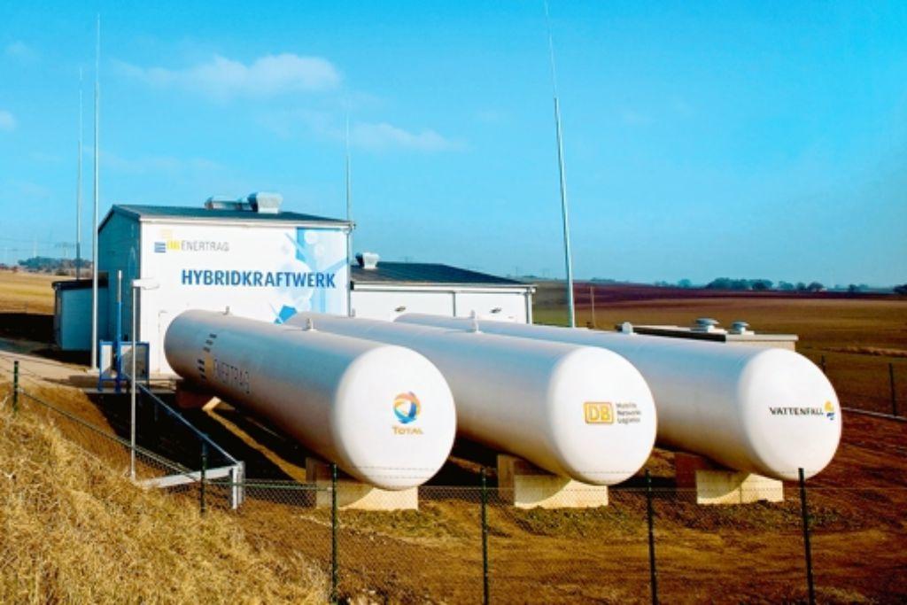 Wasserstofftanks als Energiespeicher Foto: Tom Baerwald