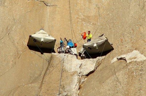 1000 Meter an glatter Felswand hoch
