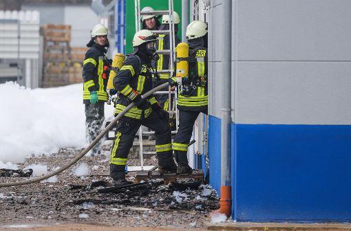 Entwarnung nach Brand in Chemiefirma