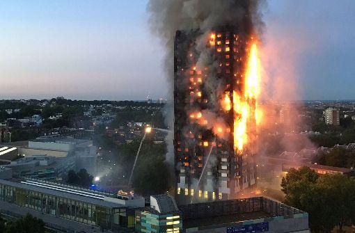 Mehrere Tote bei Hochhausbrand