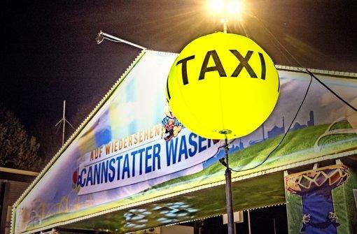 Neuer Taxihalt auf dem Wasen