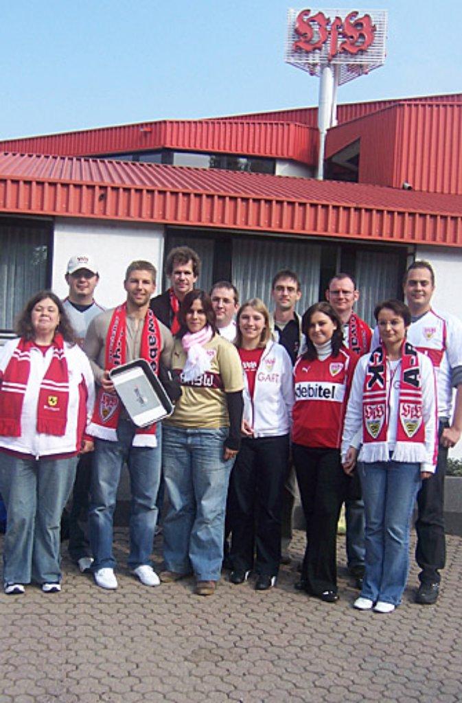 Noch einmal das Treffen mit Hitzlsperger im Oktober 2006. Foto: Kerstin Döring