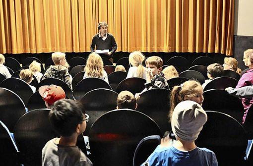 Unterricht im Kinosaal