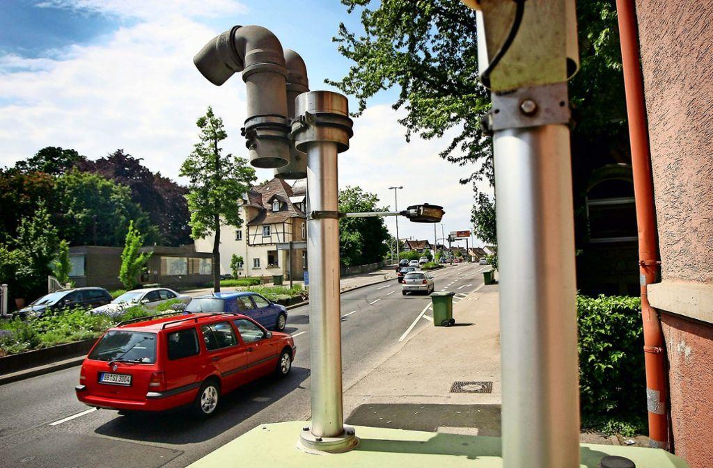 Die Messstation an der Friedrichstraße registriert weniger Stickoxid – doch die Grenzwerte werden überschritten. Foto:
