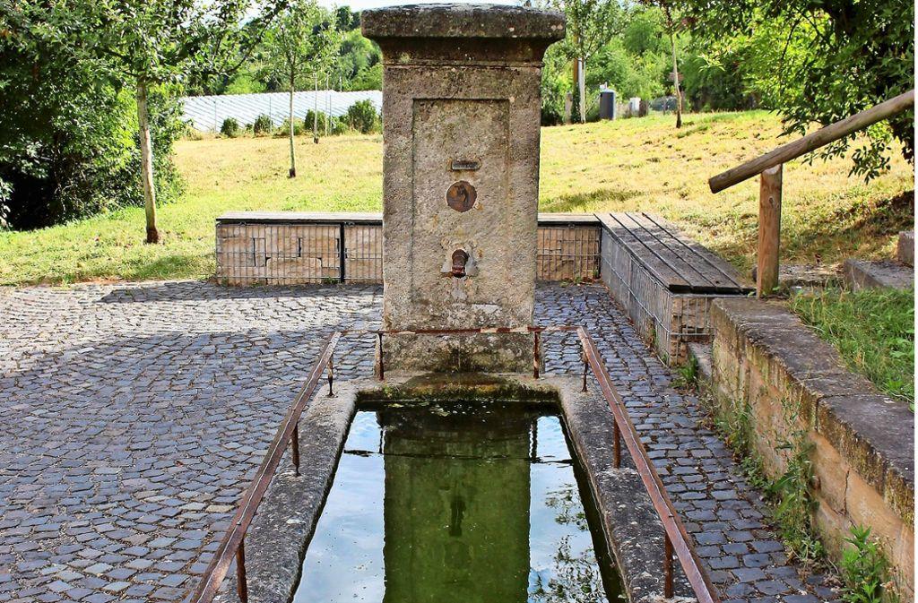 Wasser zum Gießen: Der Brunnen ist auch bei den Kleingärtnern beliebt. Foto: Holowiecki