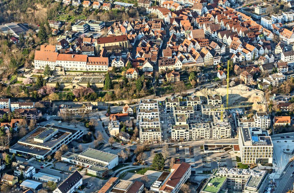169 Wohnungen entstehen derzeit auf dem ehemaligen Bausparkassen-Gelände. Foto: Holger Leicht