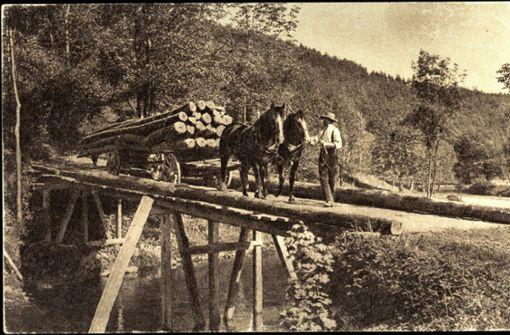 Holztransport am Albtrauf: einst ein gefährlicher Job