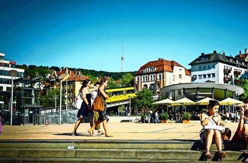 Rasensprenger am Marienplatz