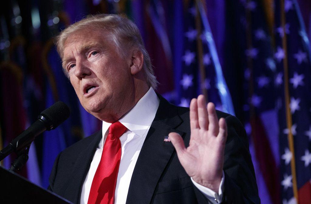 Der republikanische Präsidentschaftskandidat Donald Trump hat die Wahl gewonnen. Foto: AP