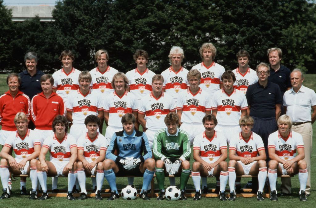Traditionell enge Bande zwischen Dinkelacker und dem VfB – in der Meistersaison 1983/84 sogar als Trikotsponsor. Foto: Baumann