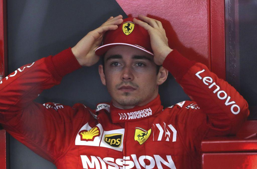 Fühlte sich in China ungerecht behandelt: Ferrari-Jungstar Charles Leclerc Foto: AP