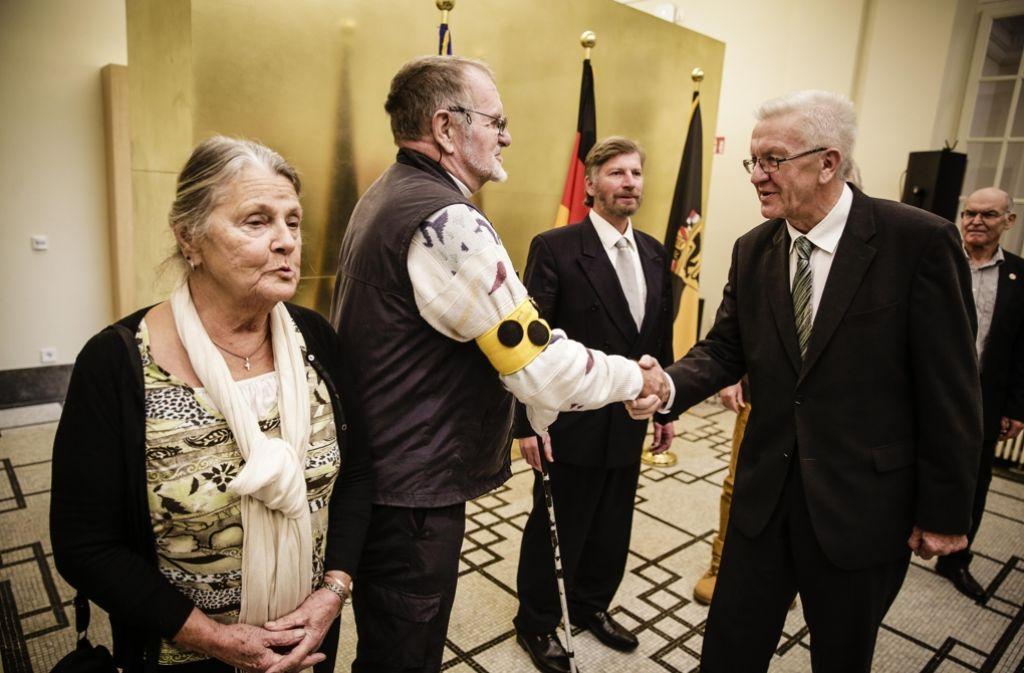 Ministerpräsident Winfried Kretschmann entschuldigte sich bei den Opfern. Foto: Lichtgut/Leif Piechowski