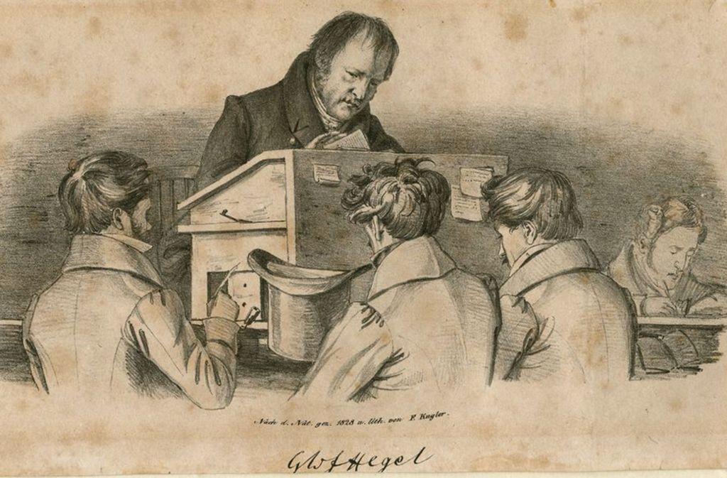 Georg Wilhelm Friedrich Hegel, Litho von Franz Theodor Kugler, 1828. Foto: DLA Marbach